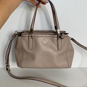 Coach grey pebbled Leather shoulder bag